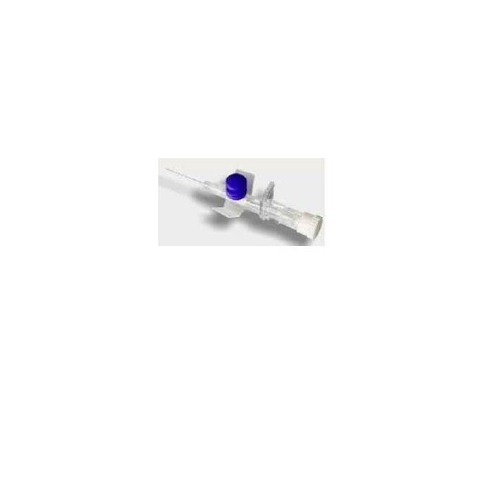 Ago cannula 2 vie g 22 c/alette blu